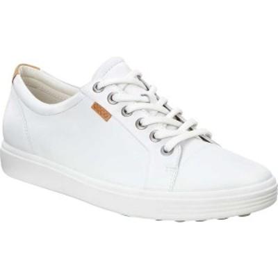 エコー レディース スニーカー シューズ Soft 7 Sneaker White Leather/Nubuck