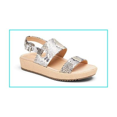Vionic Women's Louise Platform Sandal - Ladies Flatform Sandals Concealed Orthotic Support Silver Boa 7.5 Medium US【並行輸入品】