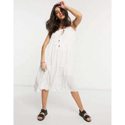 リズム レディース ワンピース トップス Rhythm Olivia tiered midi dress White