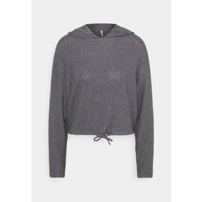 オンリー レディース パーカー ONLZIRA HOOD - Hoodie - medium grey melange/plain
