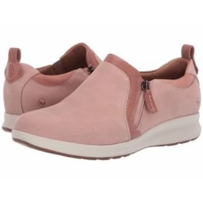 Clarks クラークス レディース 女性用 シューズ 靴 スニーカー 運動靴 Un Adorn Zip Rose Nubuck/Suede Combi【送料無料】