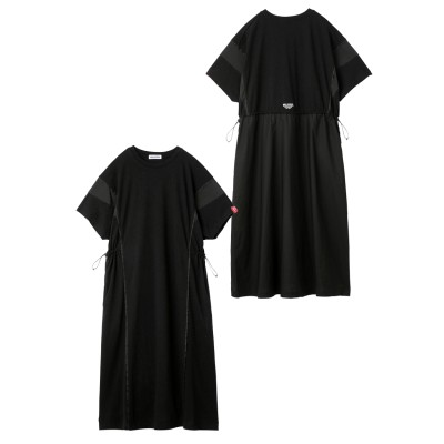 BICOLOR DRAWSTRING DRESS