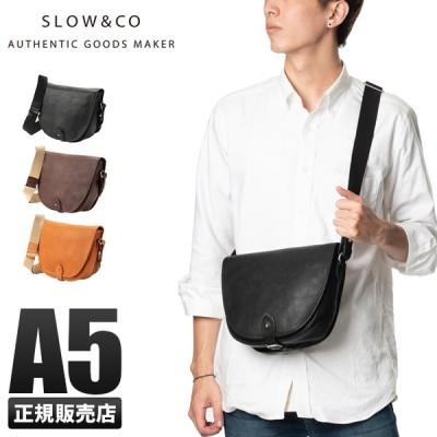 SLOW スロウ ショルダーバッグ メンズ レディース 斜めがけ 本革 レザー ブランド 黒 ボーノ bono 49s236i◎