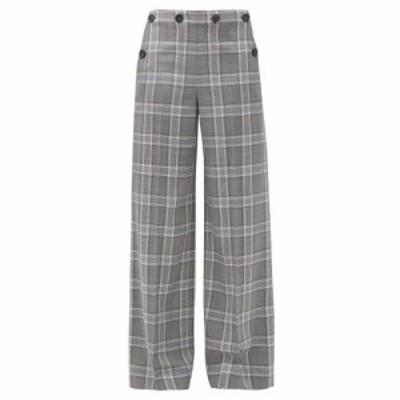 ローラン ムレ Roland Mouret レディース ボトムス・パンツ Palmetto checked wool wide-leg trousers Multicoloured