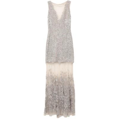 ELIE TAHARI ロングワンピース&ドレス ベージュ 2 ナイロン 100% ロングワンピース&ドレス