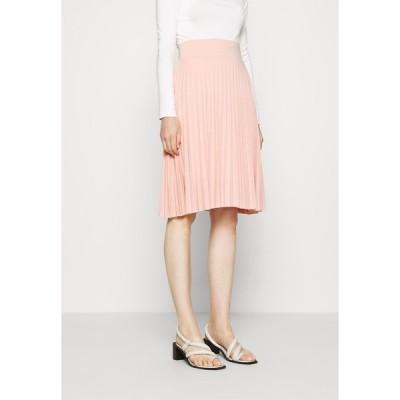 アンナフィールド スカート レディース ボトムス Plisse A-line mini skirt - A-line skirt - dusty pink