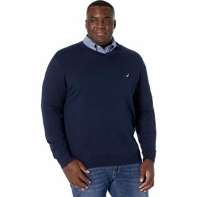 ノーティカ Nautica Big and Tall メンズ ニット・セーター 大きいサイズ Vネック トップス Big and Tall Sweater V-Neck Navy