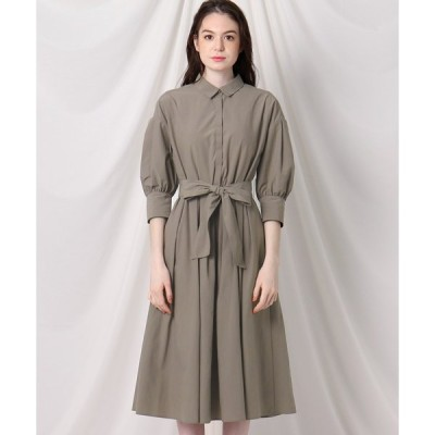 Couture Brooch(クチュールブローチ)【洗える】ボリュームスリーブシャツワンピース