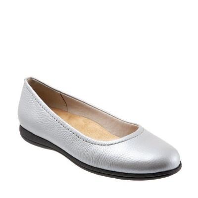 トロッターズ レディース サンダル シューズ Darcey Leather Ballet Flats Silver