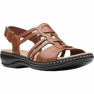 クラークス Clarks レディース サンダル・ミュール シューズ・靴 Leisa Janna Slingback Sandal Tan Leather