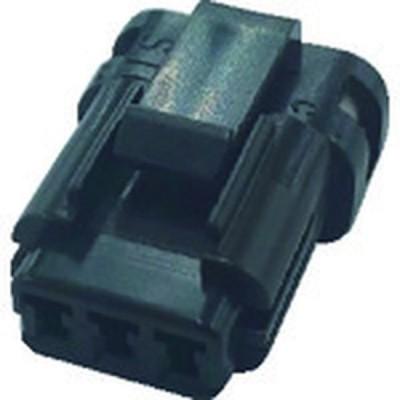 【メーカー在庫あり】 P-CB01A6-03B0-01 TRUSCO 防水コネクタ ソケットハウジング (10個入)芯数3 被覆外径φ1.0〜1.3 黒 HD店