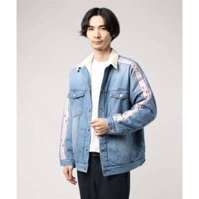 ジャケット ブルゾン FILA Denim boa Jacket (BLUE)