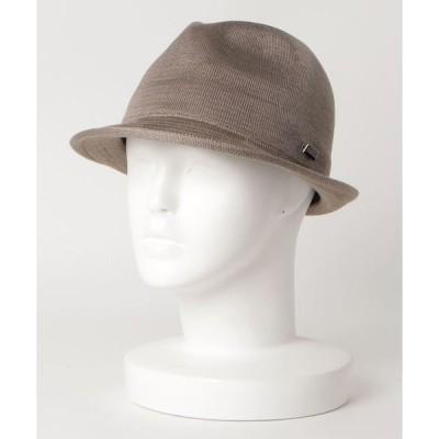 帽子 ハット シルク ニット トリルビーハット