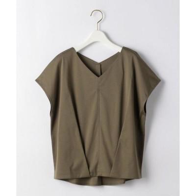 tシャツ Tシャツ CB スムース バックボタン フレンチ プルオーバー カットソー