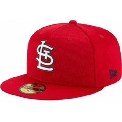 ニューエラ New Era メンズ 帽子 St. Louis Cardinals Red 59Fifty Clubhouse Fitted Hat