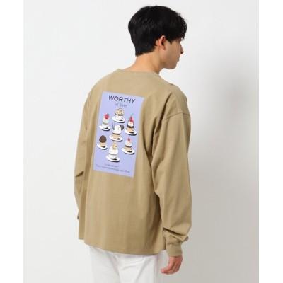 THE SHOP TK / 【WEB限定】SWEETS/スウィーツバックプリントビックシルエットロンTEE MEN トップス > Tシャツ/カットソー
