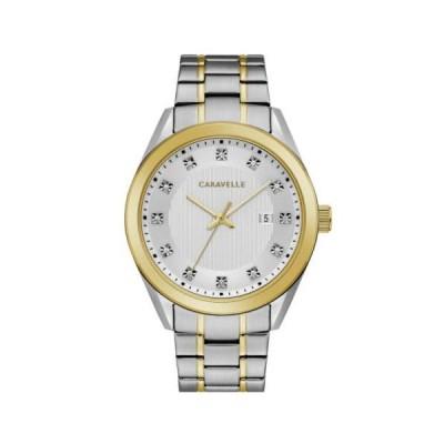 腕時計 キャラベル Caravelle 45B154 Men's Sport Silver Dial Two Tone Crystal Watch