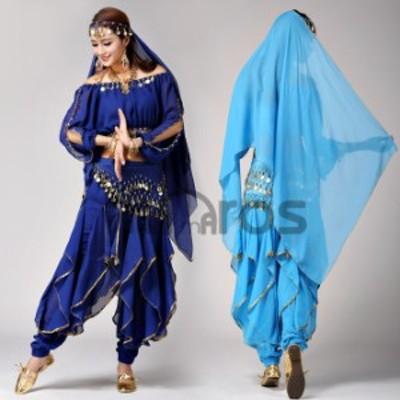 ベリーダンス衣装 6色 セット 組み合わせ自由 コスチューム アクセサリー付き hy0009