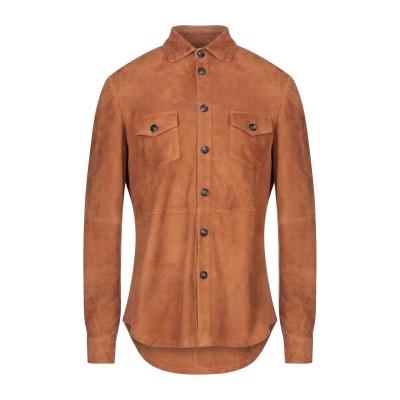 AFG' 1972 シャツ ブラウン 50 羊類革 100% シャツ