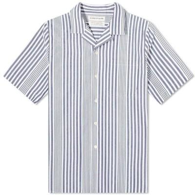 ア カインド オブ ガイズ A Kind of Guise メンズ 半袖シャツ トップス Gioia Vacation Shirt Irregular Stripe