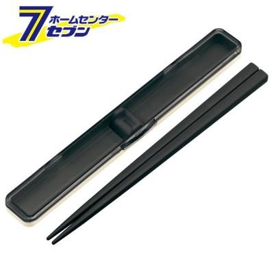 音のならない箸・箸箱セット レトロフレンチ BK ABC45 スケーター [お弁当グッズ はし箱セット skater]