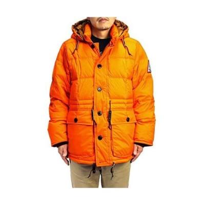 (ウッズ) WOODS メンズ フード付きダウンジャケット (オレンジ XL)
