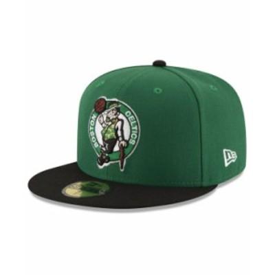 ニューエラ メンズ 帽子 アクセサリー Boston Celtics Basic 2 Tone 59FIFTY Fitted Cap Kelly Green/Black