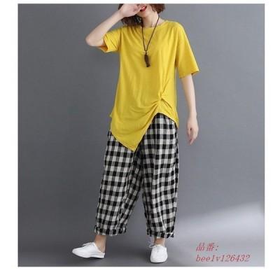 レディースファッション Tシャツ トップス 半袖 無地 カジュアル かわいい セール ゆったり