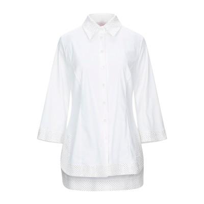 CLIPS MORE シャツ ホワイト 42 コットン 69% / ナイロン 27% / ポリウレタン 4% シャツ
