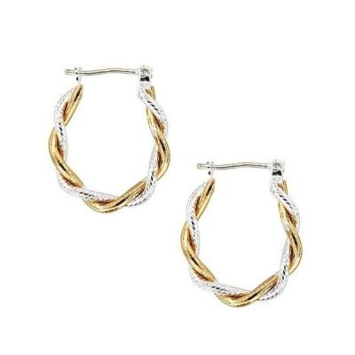 ディラーズ レディース ピアス・イヤリング アクセサリー Tailored Two-Tone Hoop Earrings