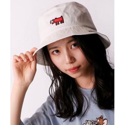 FUNALIVE / 【Keith Haring】キースヘリング ドッグバケットハット WOMEN 帽子 > ハット