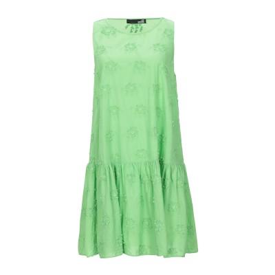 ラブ モスキーノ LOVE MOSCHINO ミニワンピース&ドレス グリーン 40 コットン 100% ミニワンピース&ドレス