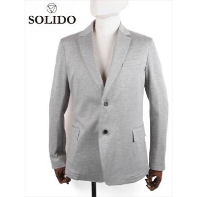 SOLIDO ソリード LEGNO 度詰め天竺 2Bシングルテーラードジャケット MSL19S435 ライトグレー 国内正規品