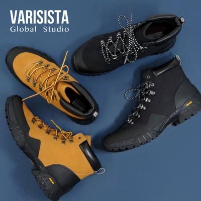 【VARISISTA Global Studio 】【ZS914】トレッキング スニーカー ブーツ レザー ビブラム メガグリップ アウトドア フェス Vibram キャンプ