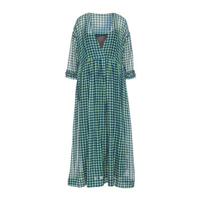 ジャッカ JUCCA ロングワンピース&ドレス ブルー 44 コットン 72% / シルク 28% ロングワンピース&ドレス