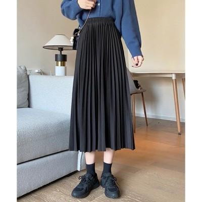 スカート 【URGE:】ウエストゴム プリーツスカート