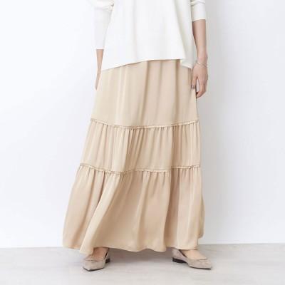ルージュヴィフ ラクレ Rouge vif la cle 切り替えギャザースカート (イエロー)