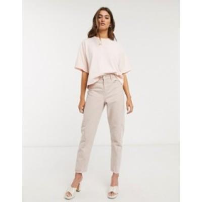トップショップ レディース デニムパンツ ボトムス Topshop IDOL mom jeans in washed pink Pink