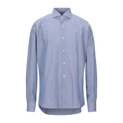 レ コパン LES COPAINS シャツ ブルー 43 コットン 100% シャツ
