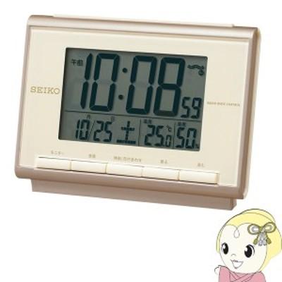 セイコー 温度・湿度表示機能 電波置き時計 SQ698C