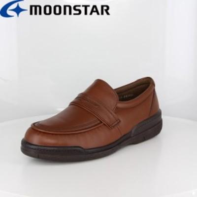送料無料 ムーンスター メンズ ビジネスシューズ 靴 SPH7482 ダークブラウン 幅広 4E 国産 本革 メンズコンフォートレザーシューズ