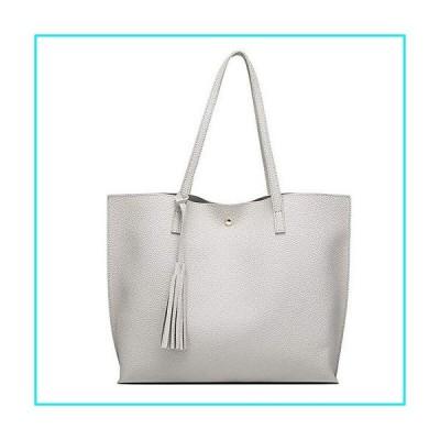 Women's Hobo Handbags Simple Casual Top Handle Tote Bag Crossbody Shoulder Bag Shopping Work Bag Gray【並行輸入品】