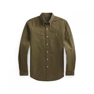 ラルフ ローレン Polo Ralph Lauren メンズ シャツ スリム ワイシャツ トップス Slim Fit Garment Dyed Oxford Shirt Defender Green