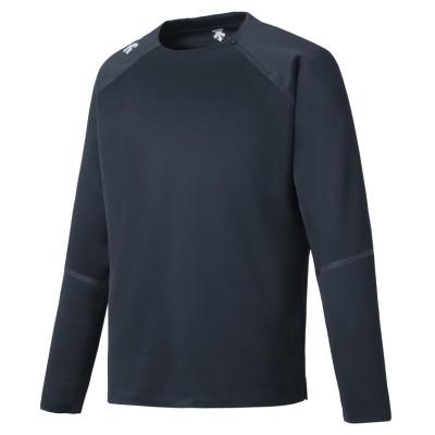 【デサント】 プライムフレックスグリッドL/Sシャツ / PRIMEFLEX GRID L/S SHIRT メンズ ネイビー系 M DESCENTE