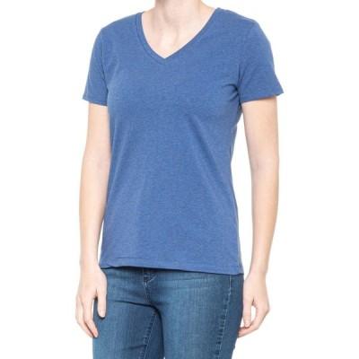 ワークショップ Workshop レディース Tシャツ Vネック トップス V-Neck T-Shirt Denim Heather