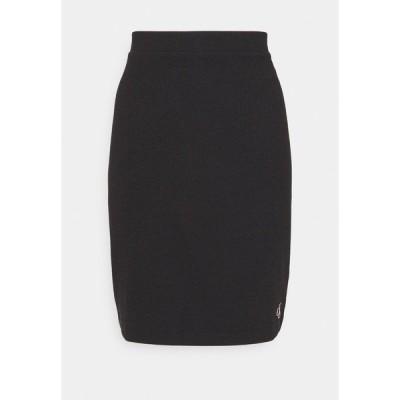 カルバンクライン スカート レディース ボトムス SLUB MINI SKIRT - Pencil skirt - black