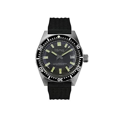 Sharkey Men's Automatic Stainless Steel Diving Watch 62mas Fully lumed Bezel Mineral Glass (Fully Ceramic)
