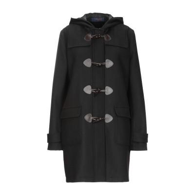 トラサルディ ジーンズ TRUSSARDI JEANS コート ブラック 38 ウール 60% / ポリエステル 30% / アセテート 5% /
