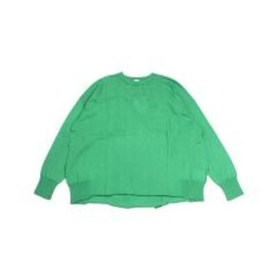 STOCK&INTELLIGENCEツムグ ニットプルオーバー セーター tumugu TK19109 F(フリー) グリーン(35)