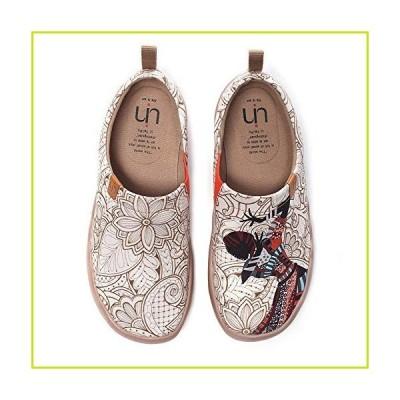UIN レディース ファッション アート スニーカー ペイントキャンバス 女性用 スリッポン トラベルシュー